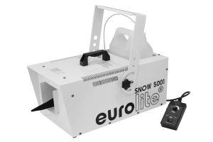 eurolite SNOW 5001 Schneemaschine Geräteansicht seitlich mit Kabelfernbedienung