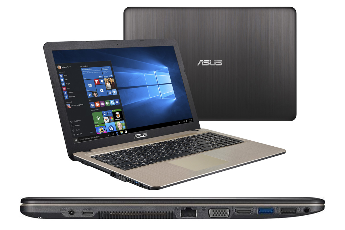ASUS Laptop mit Windows 10 / Office 2016 (Powerpoint 2016) / HDMI / USB / VGA / SD / DVD Brenner
