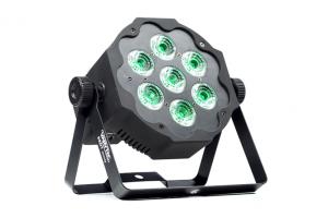 Scheinwerfer VARYTEC LED Pad 7 7x10 W 5in1 RGBWA Geräteansicht Vorderseite