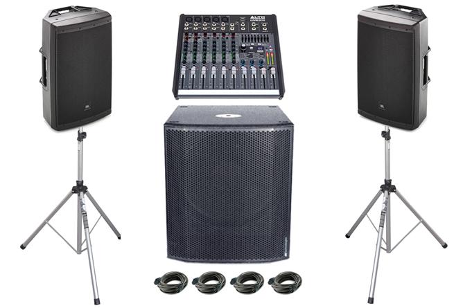 2.1. PA Anlage - super Sound und druckvoll für Ihre Veranstaltungen / Hochzeiten bis ca. 210 Gäste